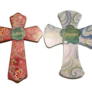 Ashland Paisley Cross Decor Set